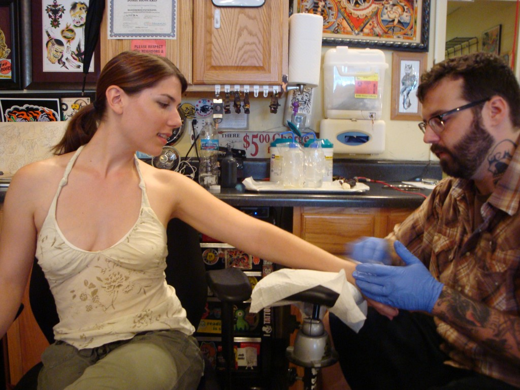 getting a vegan tattoo