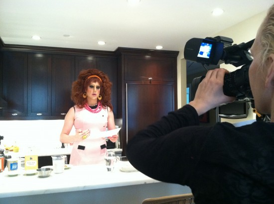 vegan drag queen cooking show