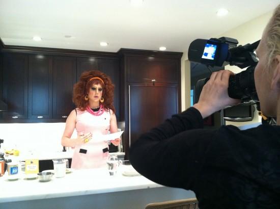 vegan drag queen cooking show