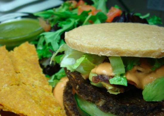 raw all american vegan burger