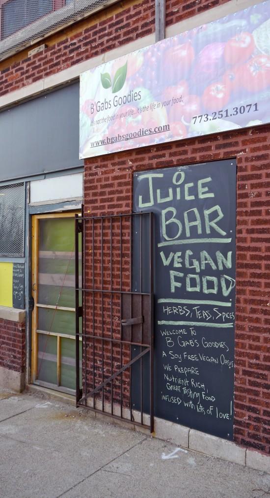 B'Gabs Goodies Raw Vegan Deli Front Door