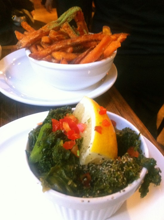 Native Foods Sweet Potato Fries Kale Lemon