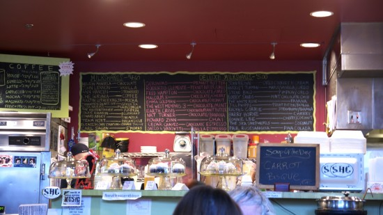 Strong Hearts Cafe Menu Board Desserts Coffee Vegan Treats