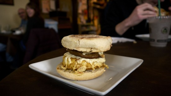 Strong Hearts Cafe Vegan Diner Food Egg Muffin Tricky