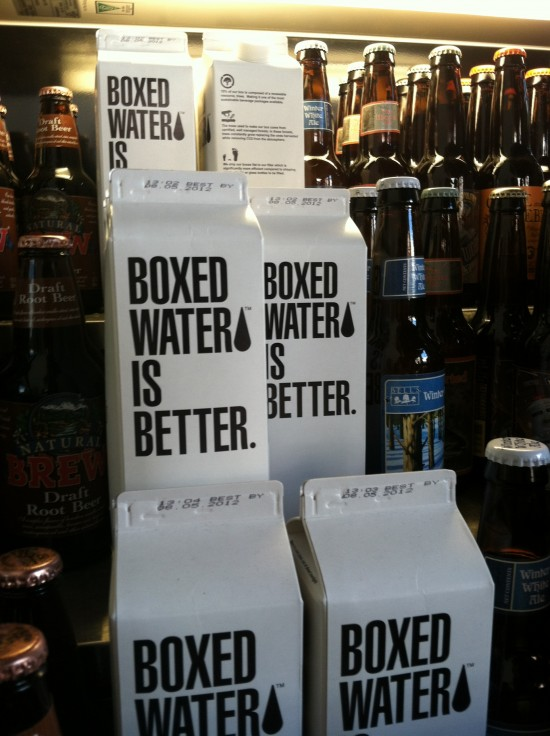 Boxed Water at Native Foods
