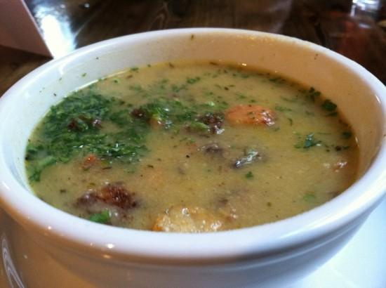 Vegan soup at Native Foods Chicago