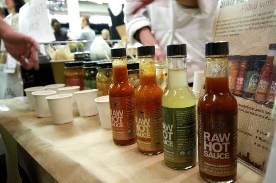 Raw Slaw Hot Sauce Vegan Bad Ass Organics Table