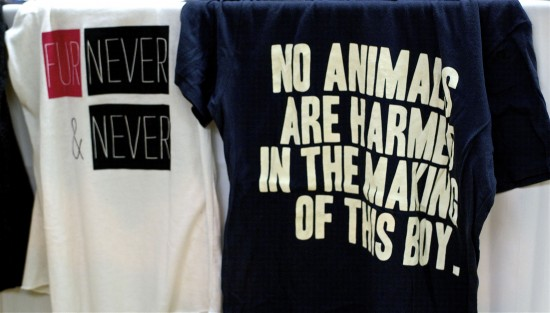 No Animals Harmed Making Boy Vaute Couture Tee Shirt