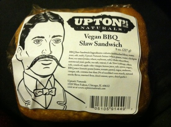 Vegan BBQ Slaw Sandwich from Upton's Naturals