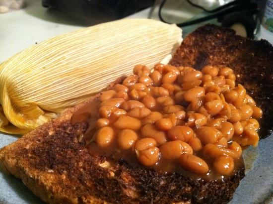vegan chorizo style seitan tamale con mole by Upton's Naturals