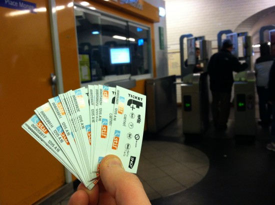 Paris Metro Tickets