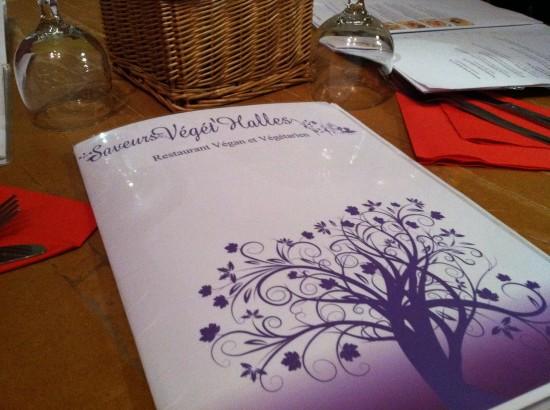Saveurs VegetHalles menu