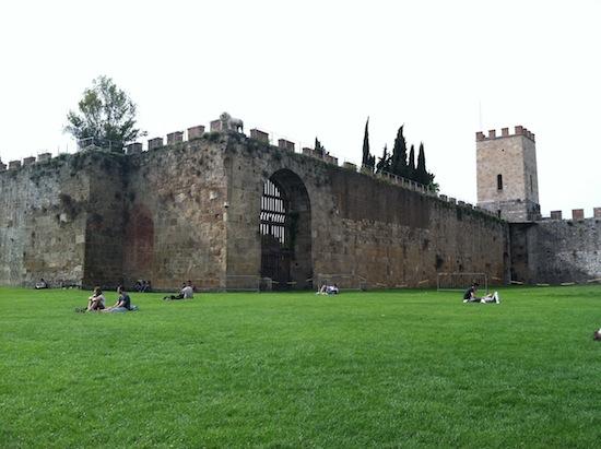 Pisa, Italy ancient wall