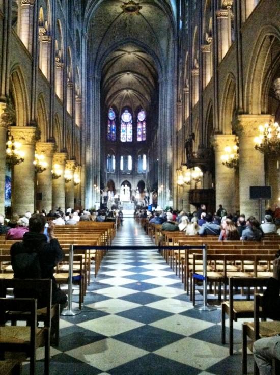 Inside Notre Dame Paris