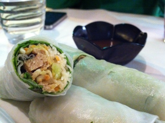 vegan spring rolls in paris france