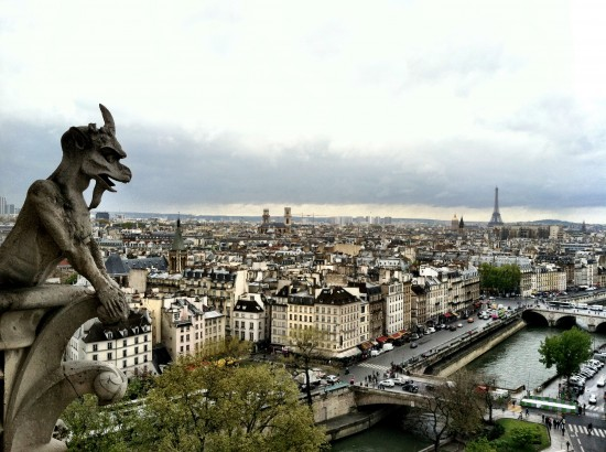 Gargoyle + Eiffel Tower Paris, France