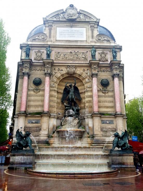 Paris, France Fountain - Angel vs Devil