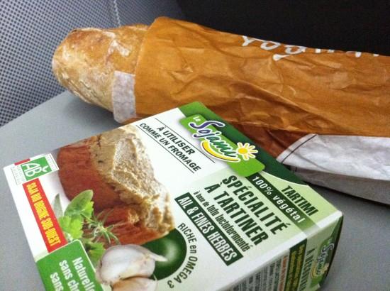 vegan cheese and baguette Paris, France