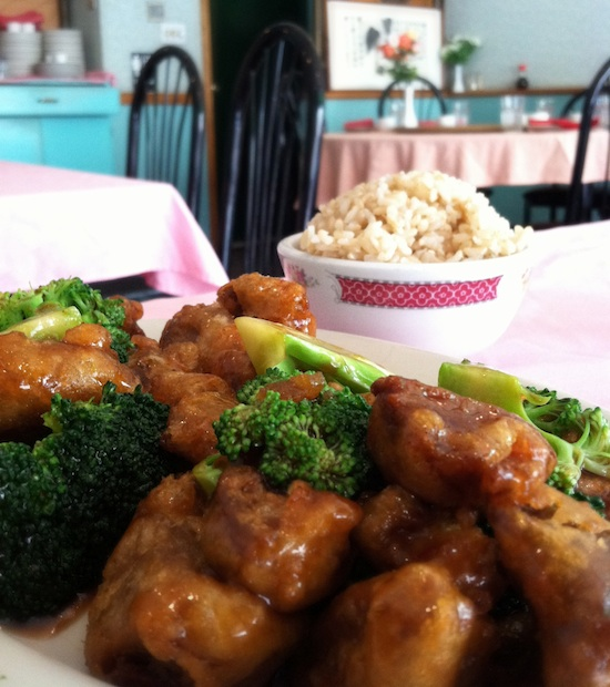 general tsos chicken from New Harmony Vegetarian, Philly