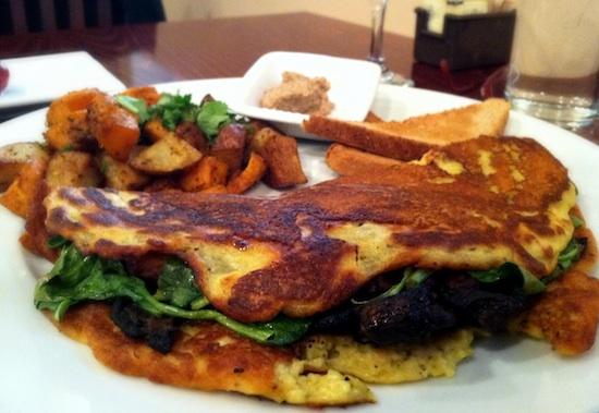 vegan omelet at Mi Lah Veg - Philly