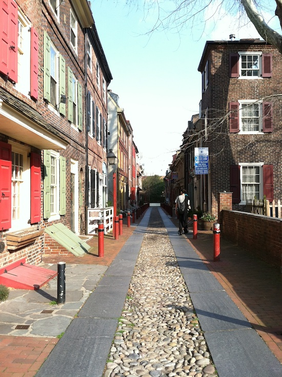 The oldeset alleyway in Philly
