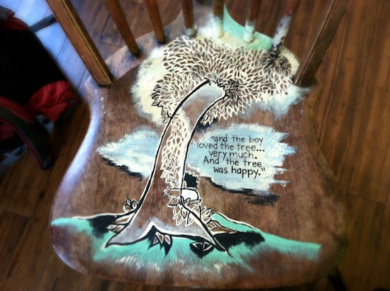 The Giving Tree chair art, philly