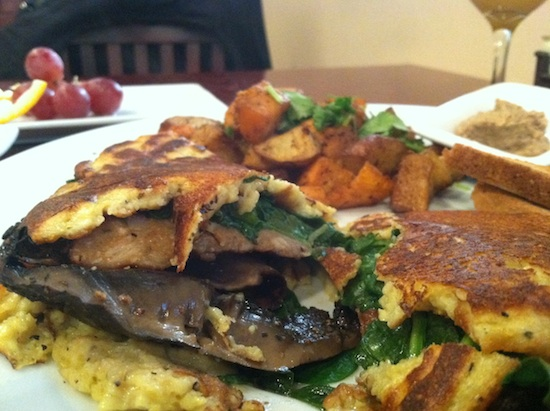 vegan omelet at Mi Lah Veg - Philly