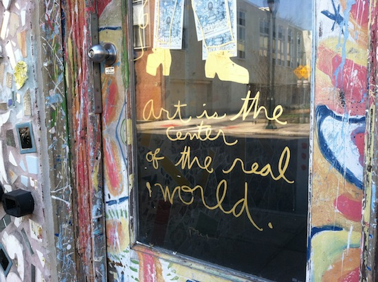 art is the center of the world, philly