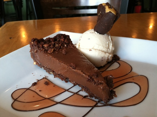 Chocolate mousse pie at Plant in Asheville, NC