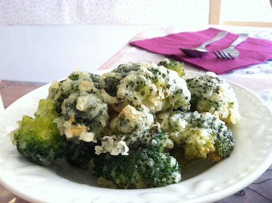Deep fried broccoli, Vegan Tree restaurant