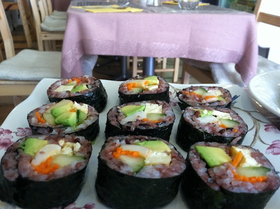 Nori rolls, Vegan Tree restaurant