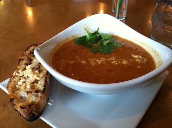 Peanut Lentil vegan soup from Plant in Asheville, NC