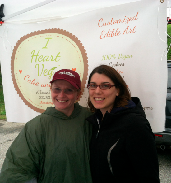 Jeannie and Kristin at the Asheville Tailgate Market