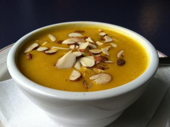 Curried butternut squash soup at Fresca on Addison - Richmond, VA