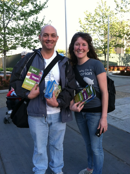 Compassion Over Killing (COK) Leafletting event in DC