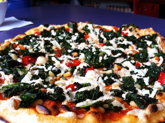 Kale pizza at Fresca on Addison - Richmond, VA