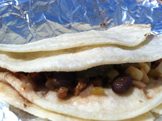 Soft shell tacos at the RV Vegan Food Cart in Richmond, VA