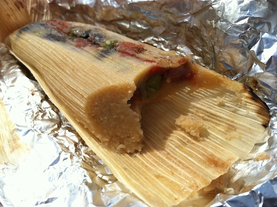 Vegan tamale at the RV Vegan Food Cart in Richmond, VA