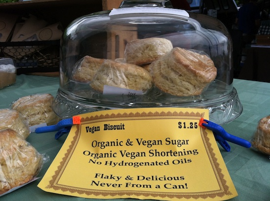 Vegan biscuits at I Heart Veg - Cake & Eats in Asheville, NC
