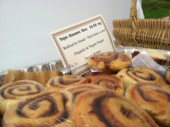 Vegan cinnamon buns at I Heart Veg - Cake & Eats in Asheville, NC