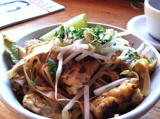 Vegan pad thai at Rosetta's Kitchen in Asheville, NC