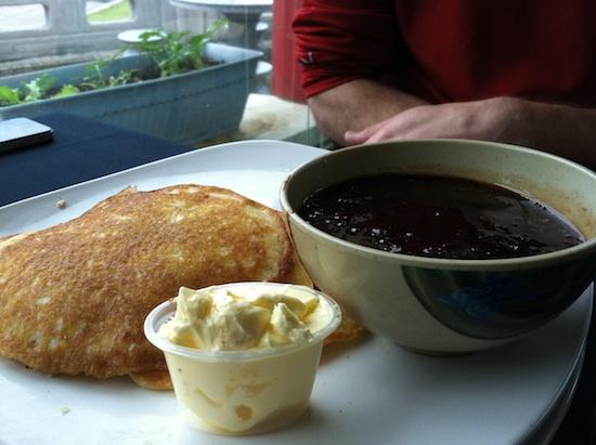 Vegan pancakes at Path Pagoda - vegan restaurant in Norfolk, VA