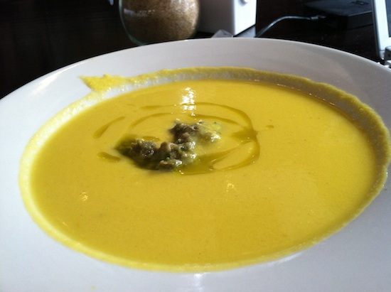 Vegan soup at Busboys and Poets in DC