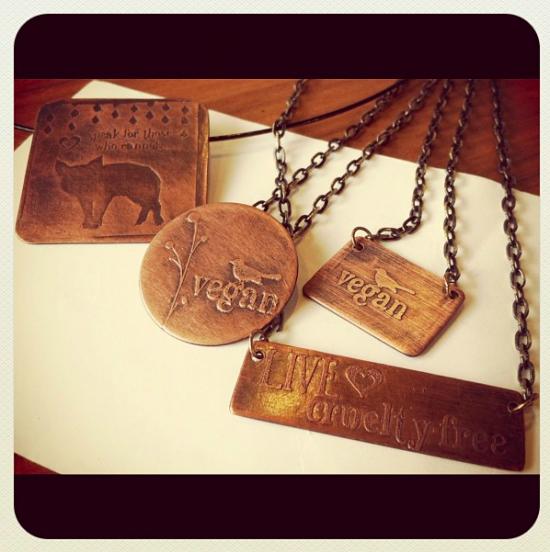 Vegan necklaces by Design Specimen