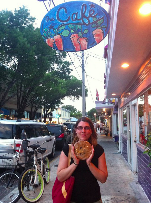 Giant cookie from The Cafe - Key West, Fl