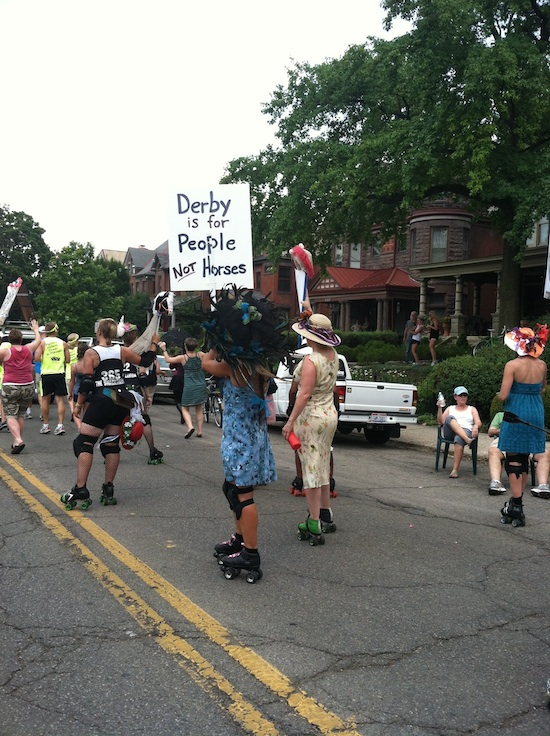 Derby is for people, not horses - Roller Derby ladies rock!