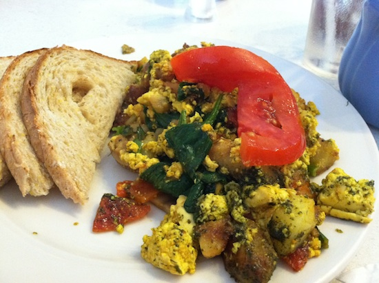 Cilantro Lime Tofu Hash at Bluegrass Grill in Chattanooga, TN