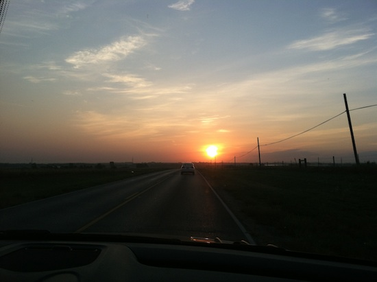Morning drive in Lincoln, NE