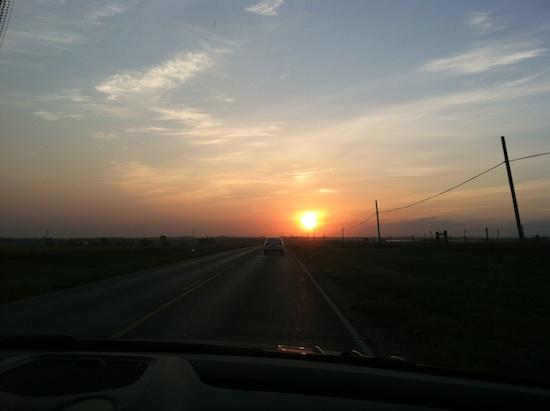 Morning drive in Lincoln, NE