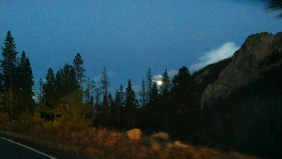 Moon - Yellowstone National Park